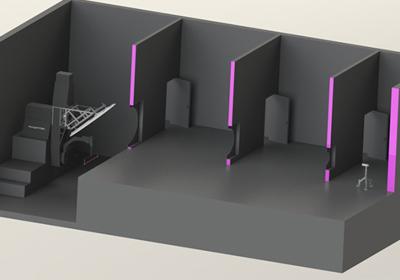 ファーフィールド配光測定装置と大型暗室の設計例
