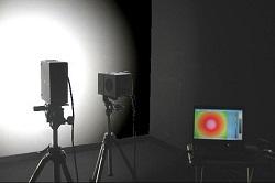 壁面とイメージング光度計を利用した照度分布測定